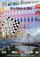 Cartel de las I Jornadas Hispano Lusas de Ajedrez 2009