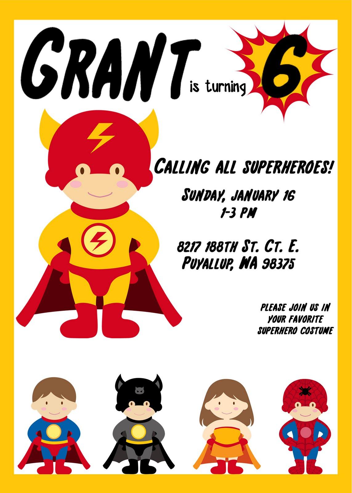 Magnificent Superhero Party Invite Images Invitation Card