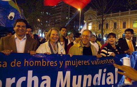 marcha mundial paz en chile