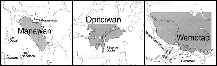mapa ubicacion pueblo nacion atikamekw
