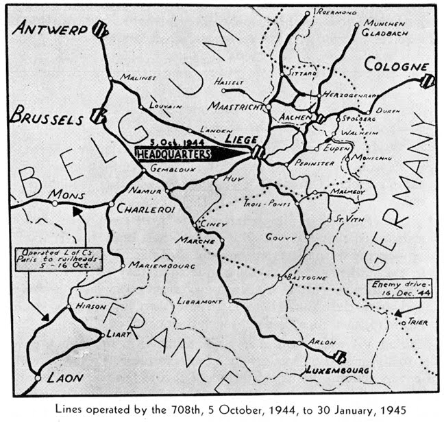 american rail in wwii belgium
