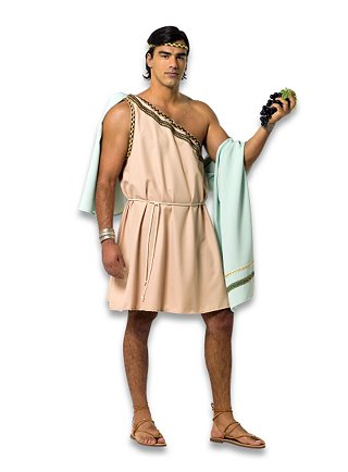 Greek Male Gods Ancient Inspired Mens Costume With Himation