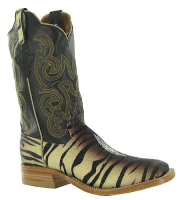 Black & zebra Rios of Mercedes cowboy boots