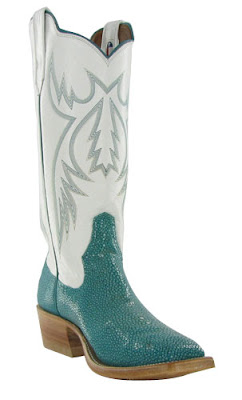 white & turquoise Rios of Mercedes Cowboy boots