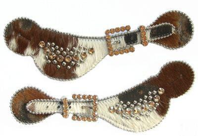 Cowhide b.b. simon spur straps