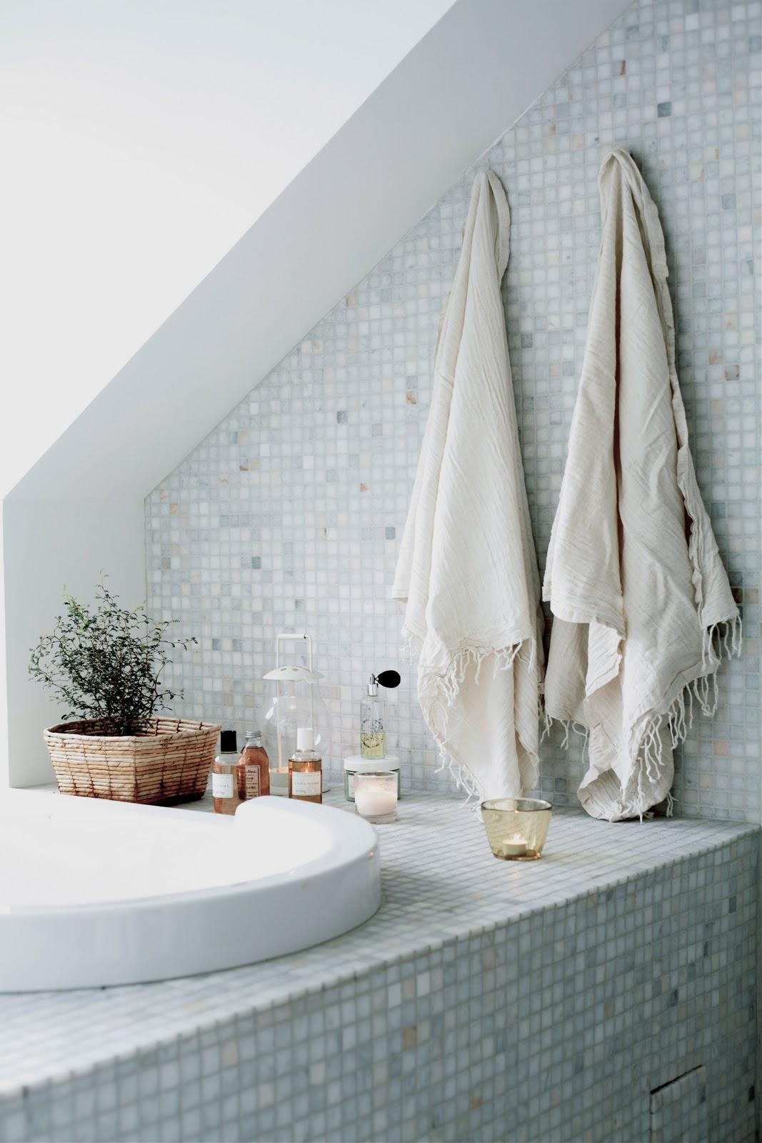 Daniella witte: harmoniskt i badrummet!