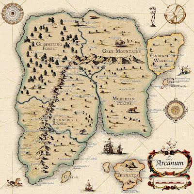 Карта мира игры Арканум Arcanum