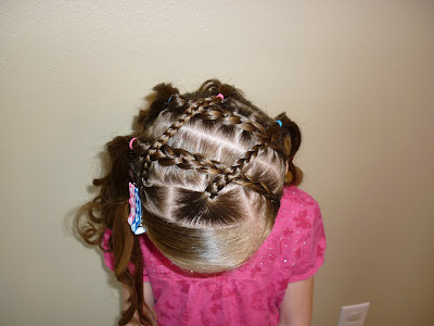 criss crossed braids