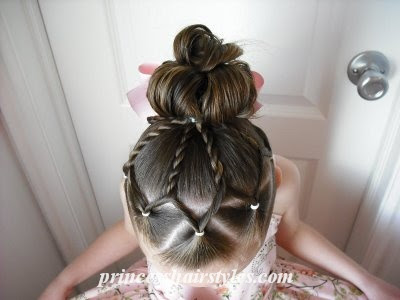 Easter hairstyle for girls