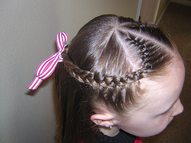 french braid heart hairstyle