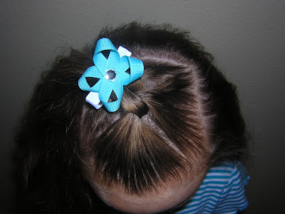 five minute hairstyle for little girls