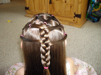 braiding down as far as you want to go. cute hairstyle for little  girls