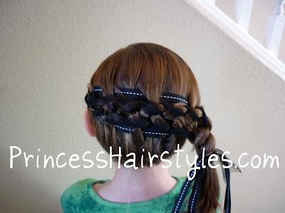 elegant ribbon braid