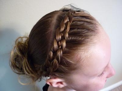 braided headband with bun