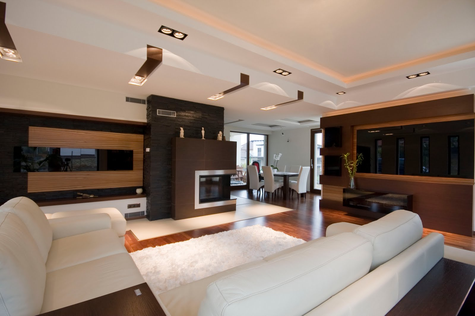 Contemporary-modern-living-room-home-interior-design-idea-with-luxury-comfortable-sofa-design-and-with-elegant-white-carpet-design.