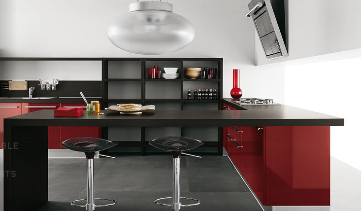 Modern-contemporary-kitchen-home-interior-design-idea-with-luxury-modern-kitchen-area-design-and-with-red-elements-decorating-design.