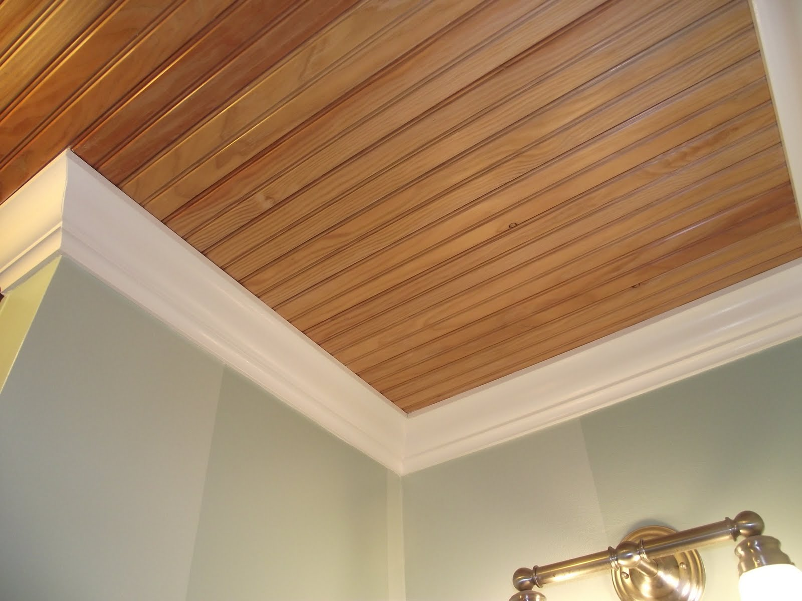 Serendipity chic design putting up a bead board ceiling for Wood floor and ceiling