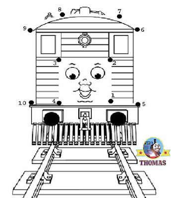 Toby the tank engine childrens dot to dot for boys activities printable educational games for fun