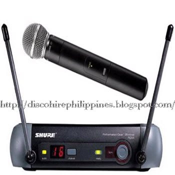 Dj microphone skills with a18MHz UHF bandwidth shure wireless microphone PGX24 SM58