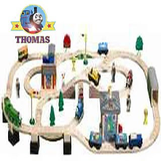 Sodor aquarium toy wooden train set track lines long straights curved shapes incline track sections