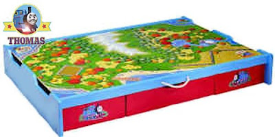 Island of Sodor Thomas under the bed trundle train table for the ultimate kids bedroom decorations