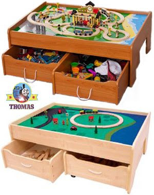 Toy Trundle train drawers under the bed board bench opening sliding storage set by kidkraft USA