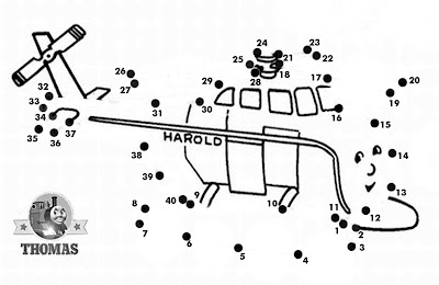 Connect the dots educational Harold helicopter thomas dot to dot counting and learning activities
