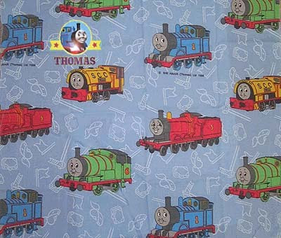 Tank engine friends and thomas fabric cloth train thomas for Train themed fabric