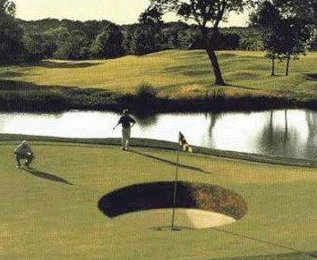 Some of the golfer think this big whole was made by the UFO