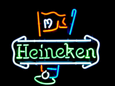 The Heineken Golf Neon Beer Sign says four