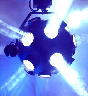 Kremesa cosmos full size two axis revolving light effect club professional DJ lighting of the 1980