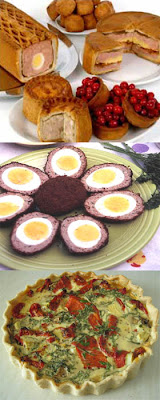 Scotch eggs pork pie quiche pic food ideas