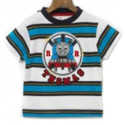 Thomas the train Age 4 blue & white stripe thomas kids clothing pic