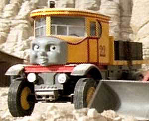 Thomas and Isabella the lorry at work on the Island of Sodor roads