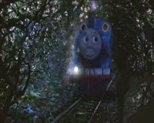 Thomas tank in the magic railways long dark tunnel