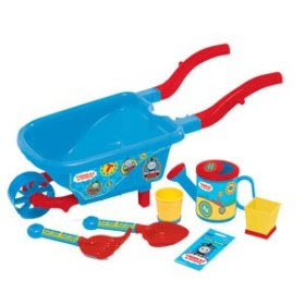 Thomas the Tank garden toy digging set flowerpots fork and trowel play tools