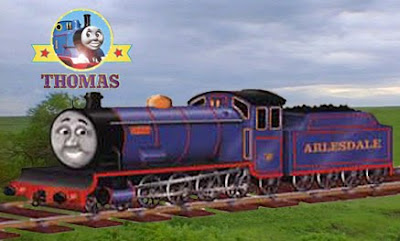 Rail train van Bert engine is going home