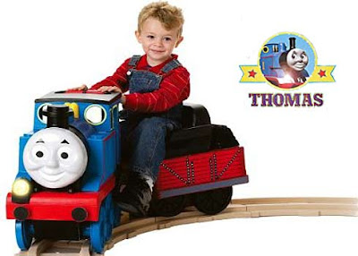 Kids Thomas track rider ride on train toy choo-choo express set 6 foot diameter amazing track layout