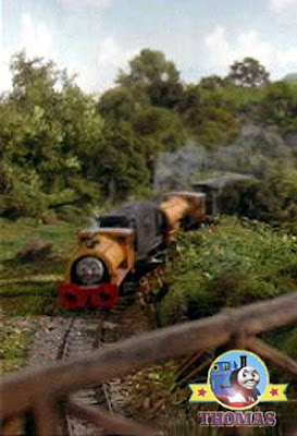 Locomotive Edward train and the happy two railway engines Bill and Ben trains twin brake van special