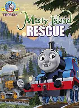 Childrens movie DVD Thomas and friends misty island rescue film with Bash and Dash tank engine twins