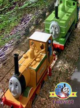 Tank Duck the great western engine gazed at the red balloon and did bump tank engine Stepney train
