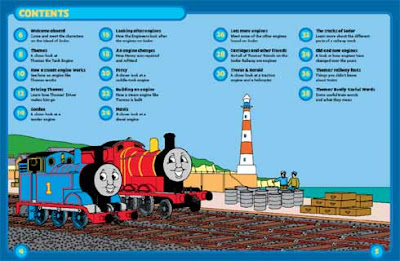 Train James the red engine Haynes work shop instruction booklet index table of content and layout