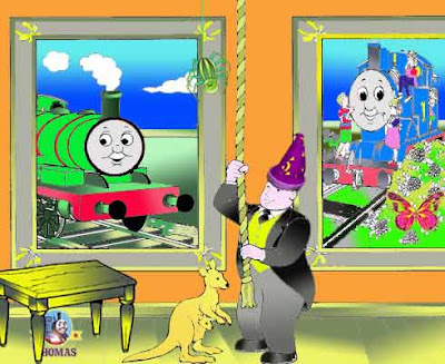 2b Sodor trainline Thomas and Percy engine find the difference in the spot the difference sheets