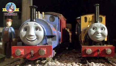 Sodor railway narrow gauge train Duncan the tank engine grumbled that he was not beautiful polished