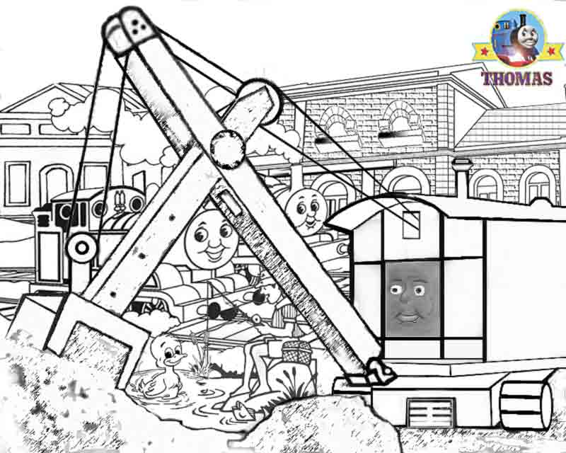 Thomas colouring pages for kids print and colour pictures Thomas and  title=