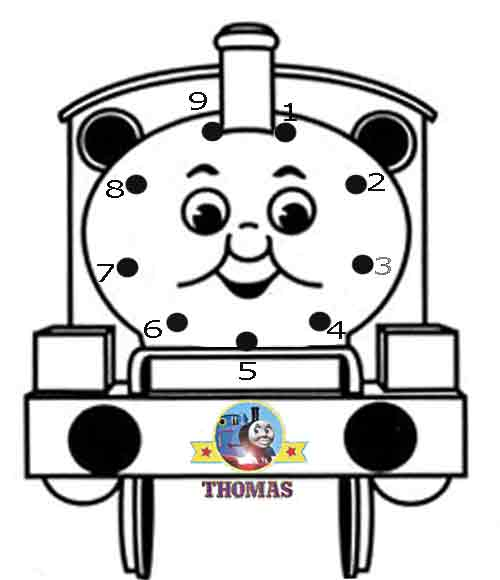 Free Coloring Pages Of Thomas Friends Dots
