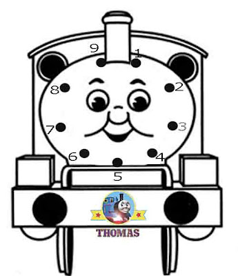 Play online game puzzles fun activities Childrens dot to dot Thomas the train Percy the small engine