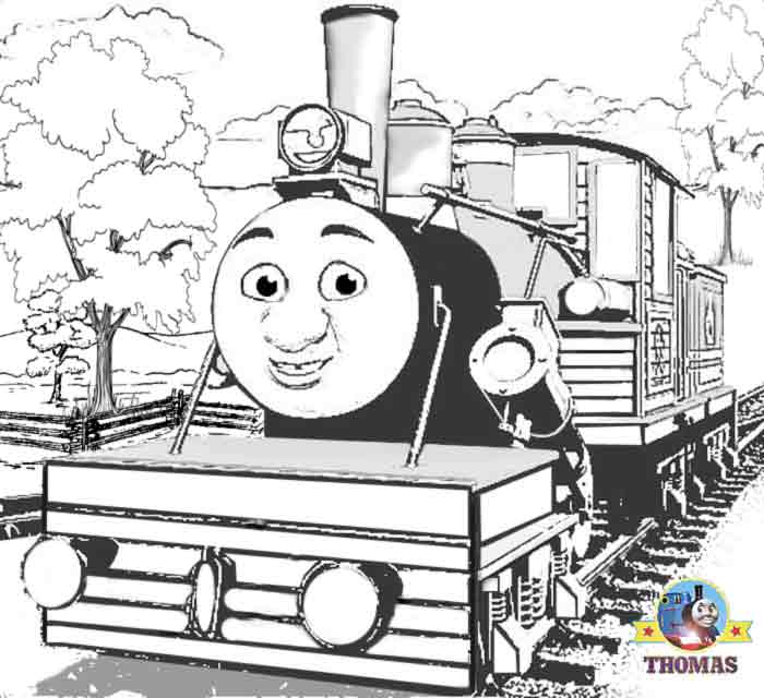 rescue Thomas the tank engine coloring pages for children printables title=