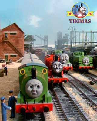 Railway Thomas and friends Island of Sodor engines laughed at the Thomas Percy and the dragon story