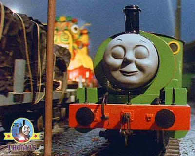 GWR locomotive Percy the tank engine was asleep and Thomas the train and the dragon is approaching